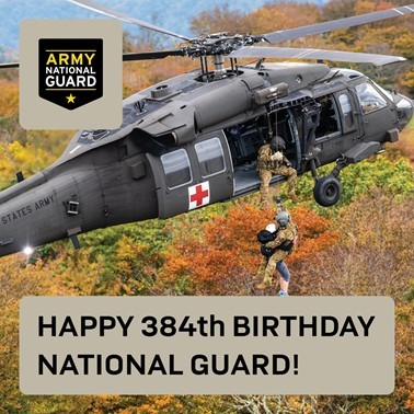 Happy Birthday to the Army National Guard!
