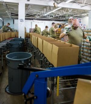 Michigan Army National Guard Helps Boost Food Bank Distribution