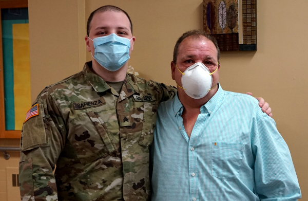 Father, Son Work Together During Pandemic